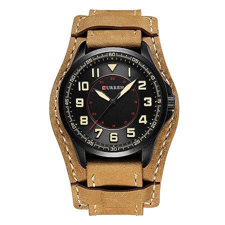 Relógio Masculino Curren Analógico 8279 - Preto e Bege