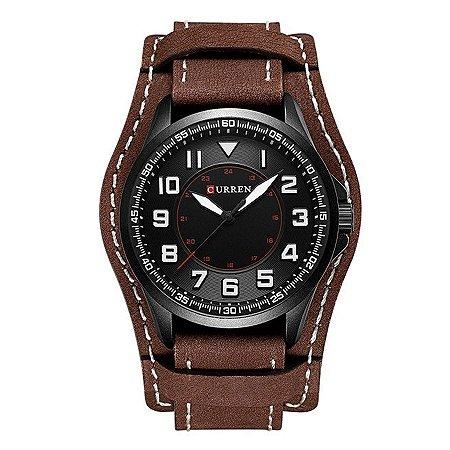 Relógio Masculino Curren Analógico 8279 - Preto e Marrom