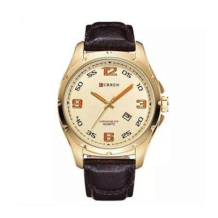 Relógio Masculino Curren Analógico 8121- Dourado