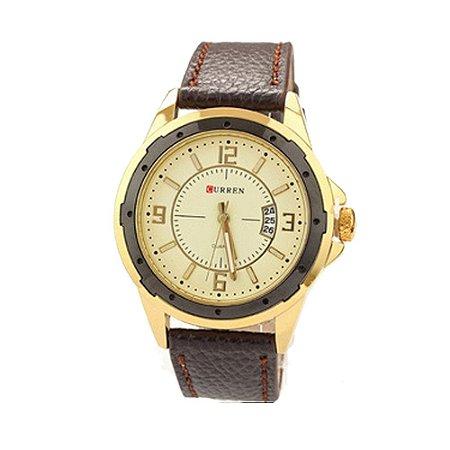 Relógio Masculino Curren Analógico 8124- Dourado