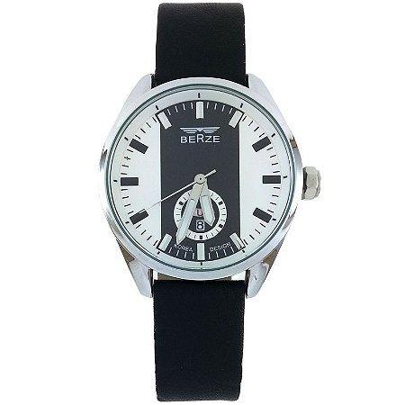 Relógio Masculino Analógico Social Berze BT170M Preto e Branco
