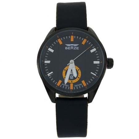 Relógio Masculino Analógico Social Berze BT170M Preto e Laranja