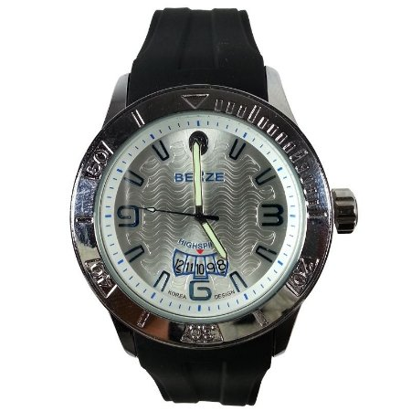 Relógio Masculino Analógico Social Berze BS144  Preto e Prata