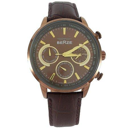Relógio Masculino Analógico Berze BS024 Marrom