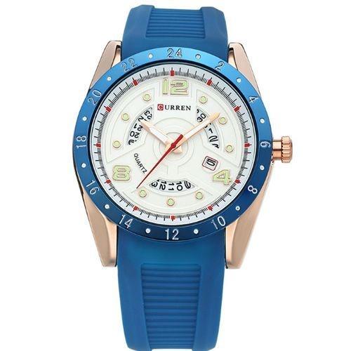 a8a58047d62 Relógio Curren Analógico 8142 Azul e Dourado - Amigonauta
