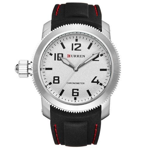 Relógio Masculino Curren Analógico 8173 Preto e Prata