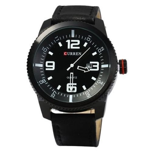 Relógio Masculino Curren Analógico 8180 Preto