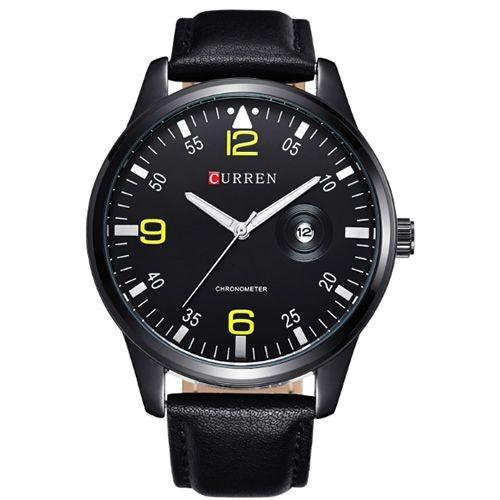 Relógio Masculino Curren Analógico 8116 Preto