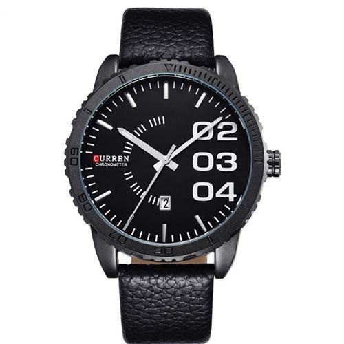 Relógio Masculino Curren Analógico 8125 Preto