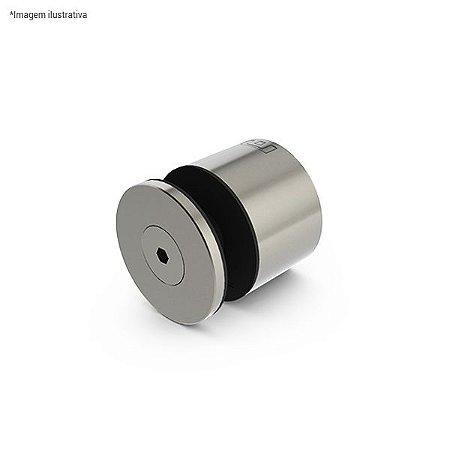 Prolongador redondo para vidro - aço inox