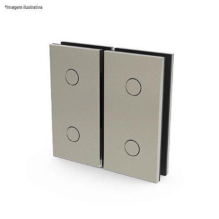 Ferragem 1114 automática para vidro, direita ou esquerda (dobradiça automática Vidro x Vidro)