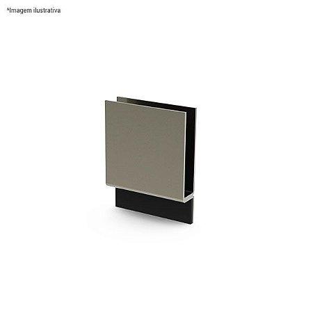Ferragem 1402 para vidro (batente) - aço inox