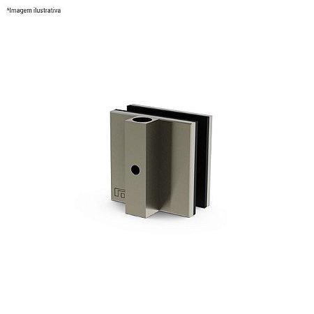 Ferragem 1524 para vidro (contra-trinco pequeno) - aço inox