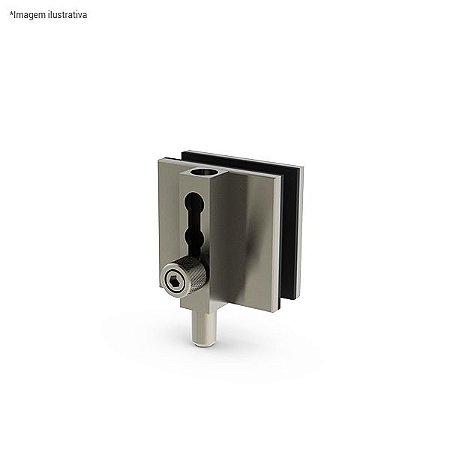 Ferragem 1521 para vidro (trinco pequeno) - aço inox
