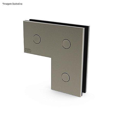 Ferragem 1310 para vidro (suporte para união de 2 ou 3 vidros) - aço inox