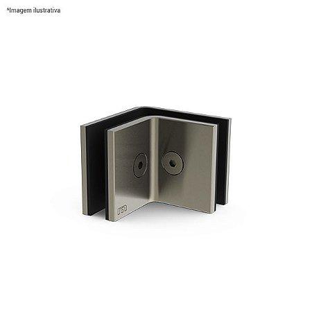Ferragem 1321 para vidro (suporte em L para união do vidro na alvenaria) - aço inox