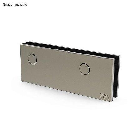 Ferragem 1101 para vidro (dobradiça superior pivotante) - aço inox