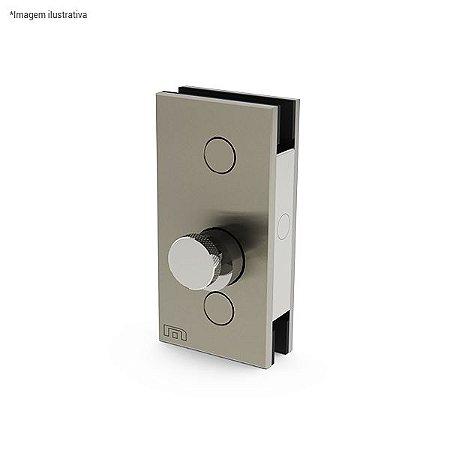 Ferragem 1503 para vidro (trinco rolete duplo) - aço inox