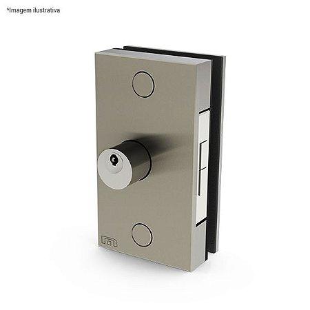 Ferragem 1510S para vidro (fechadura p/ porta de correr, sem puxador) - aço inox