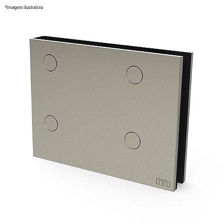 Ferragem 1101G para vidro (dobradiça pivotante superior grande) - aço inox