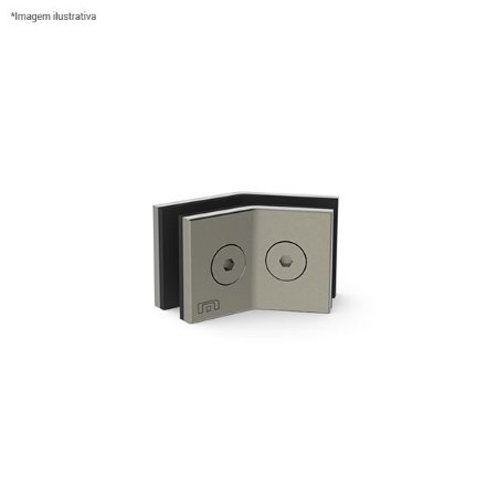 Ferragem 1335 para vidro (suporte central para união de 2 vidros a 135°) - aço inox