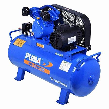 Compressor de ar pistão 10 pés 100lts 140lbs monofásico PB10/100HM PUMA