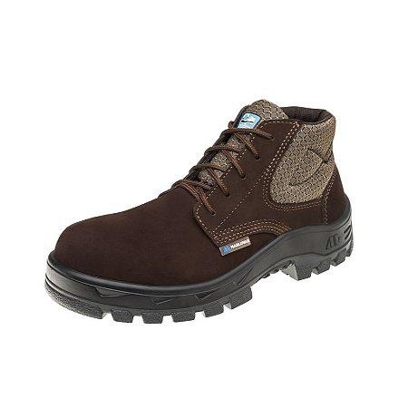 Sapato Nobuck de Amarrar - Marrom