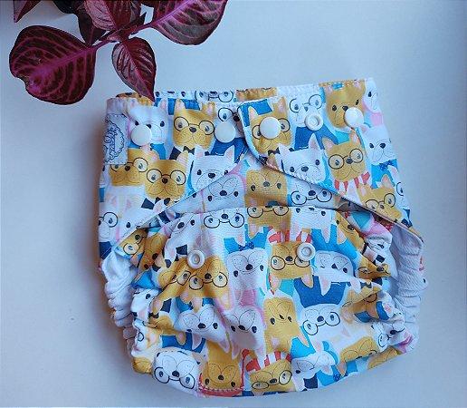 Fralda Muitos Dogs - Nacional - Lêli - Dryfit