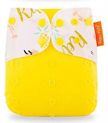 Fralda Yellow - Importada - Happy Flute - Suede