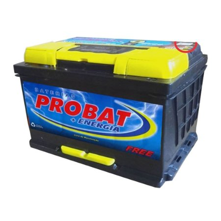Bateria Automotiva Probat Selada C/ Alça Nylon 60 Amperes