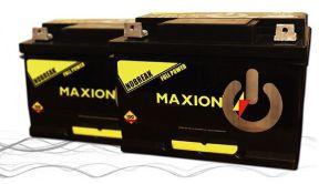 Bateria Automotiva Estacionária Maxion MX1000 56 Amperes, 62 Amperes e 73 Amperes