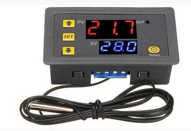 CONTROLADOR DE TEMPERATURA DIGITAL TERMOSTATO W3230 12VDC