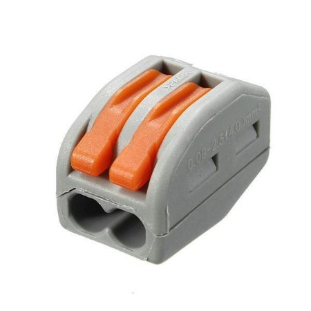Conector Emenda Rápida Tipo Wago 2 terminais
