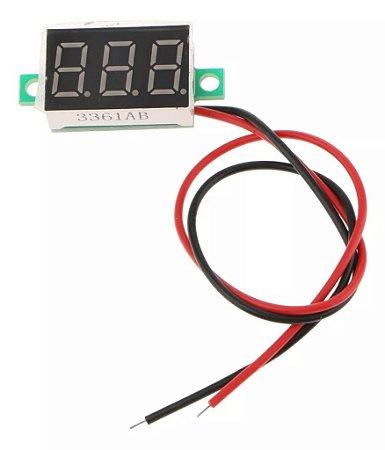 Display Voltímetro Digital De 3 Dígitos Com Remote Dc 0 A 30v