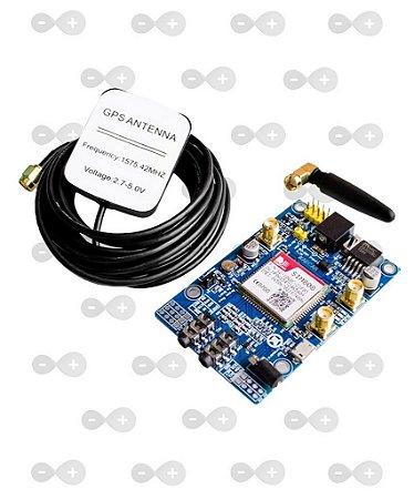 Módulo Gsm Gprs Quad-band Sim808 Com Gps - Arduino