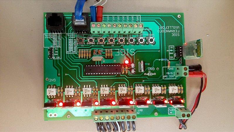 A SiGE C8X10R-BT- PLACA DE AUTOMAÇÃO RESIDENCIAL