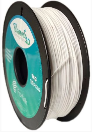 FILAMENTO PET-G 1,75 MM 1KG - BRANCO (WHITE)