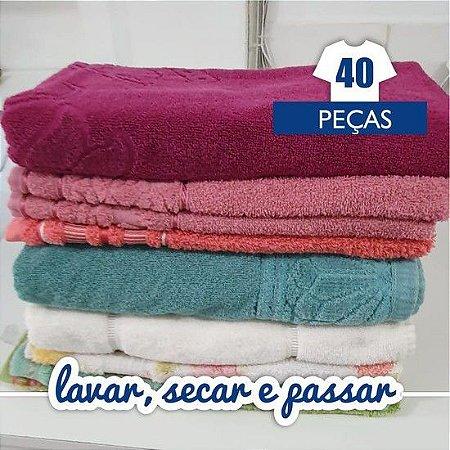 Lavar, Secar e Passar - 40 Peças