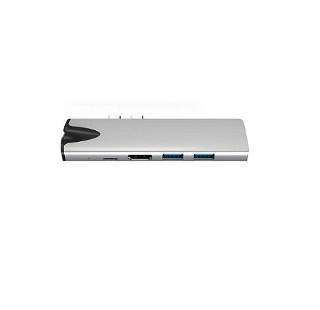 Hub Adaptador 7 em 1 USB-C 3.1 HDMI 4k Ethernet RJ45 MacBook