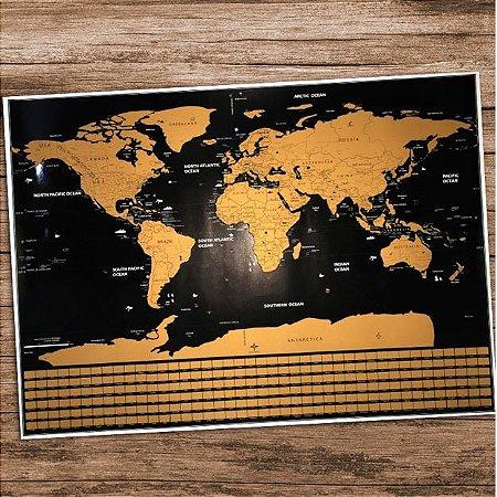 Mapa Mundi Raspar - Bandeiras