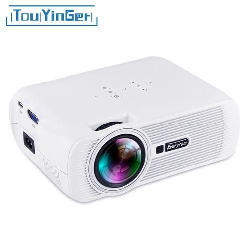 Projetor LED 1800 Lumens Full HD Wifi Android Everycom X7