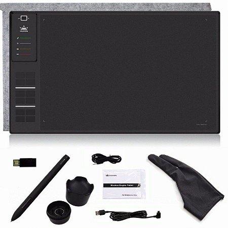 Mesa Digitalizadora Wireless Huion WH1409 (8192) com Luva