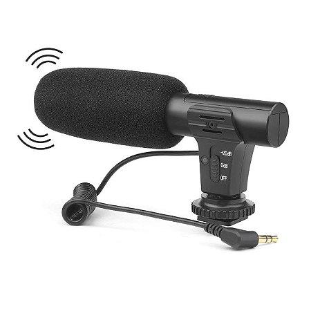 Microfone 3.5 Mm Shoot Para Camera Dslr Canon Nikon P2