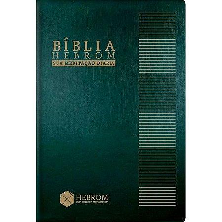 Bíblia Hebrom com Espaço para Anotações - Capa Verde (NAA)