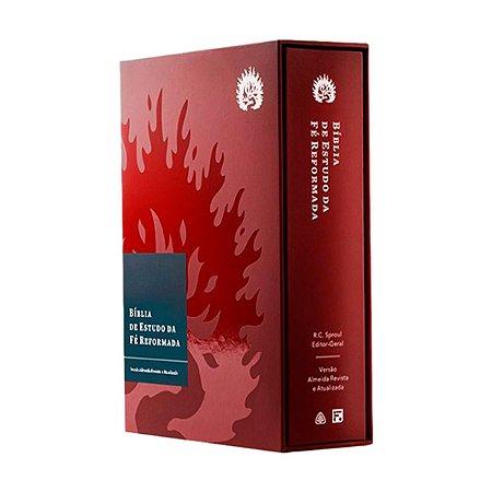 Bíblia de Estudo da Fé Reformada - Capa Dura Bordô e Estojo