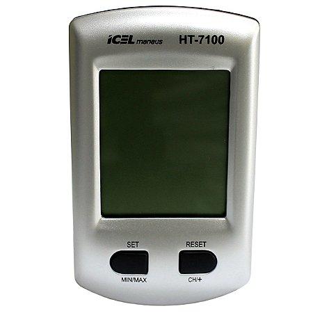 TERMO HIGRÔMETRO DIGITAL ICEL MANAUS HT-7100 COM SENSOR REMOTO SEM FIO