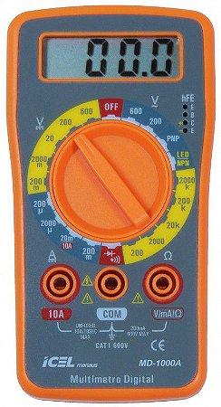MULTÍMETRO ICEL MANAUS MD-1000A TENSÃO AC: 200/600V CONTINUIDADE