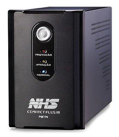 NOBREAK COMPACT PLUS III MAX 1400VA NHS ENTRADA BIVOLT COM ENGATE E USB SAÍDAS 120V - 90.C0.014107