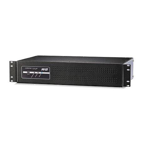 NOBREAK RACK COMPACT PLUS SENOIDAL 1000VA 2U 600W BIVOLT NHS SAÍDAS 120V COM USB - 91.A0.010553