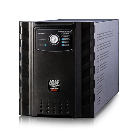 NOBREAK PREMIUM SENOIDAL 3200VA 3 X 17AH USB E ENGATE NHS BIVOLT SAÍDAS 120V - 91.C0.032100
